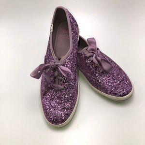 KEDS X KATE SPADE PURPLE SNEAKERS SIZE 8